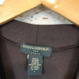 Banana Republic Tops - Banana Republic wrap surplice shirt brown vneck L